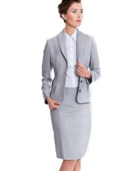 Ladies Business Formal Work Office Suit Women Skirt Suit Frock ...