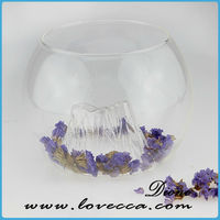 clear round glass vase clear glass floor vase BEAUTIFUL Floral Hand Cut Crystal Vase