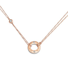 Double Layers Love Lock Chain Necklaces Gold Pendant Necklace As Valentine Gift For Women