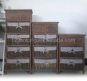 Light And Tall Wood Storage Unit Wicker Basket Cabinets Buy Wooden