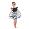 2019 fashion wholesale children clothes long sleeve autumn floral dress baby girl dress