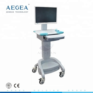 AG-WT002A With battery ABS laptop computer trolley nurse mobile workstation used