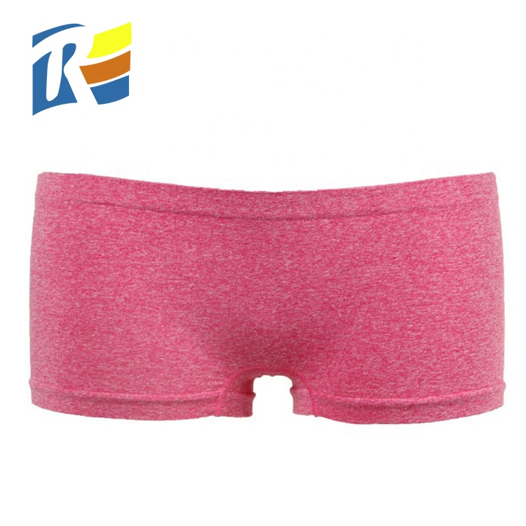 Customized Solid Nylon Polyester Womens Boxer Underwear