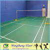 PVC Material and Simple Color Surface badminton flooring2017
