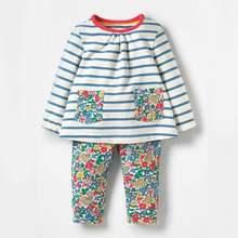 Little maven 2-7Years Осень Животных Малышей Дети Девочка детская Одежда Осень Комплект Девочек Бутик Наряды Комплекты Одежда Для Ребенка(Китай)