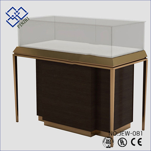 Chinese Factory stand free standing showcases jewelry display table for store showcase