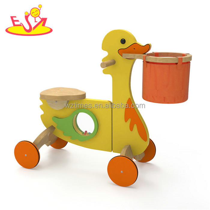 New design 4 wheels wooden children walking bike for wholesale W16A035