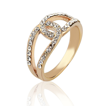 Wholesale Gorgeous Charming Gold Plated Promise Rings For