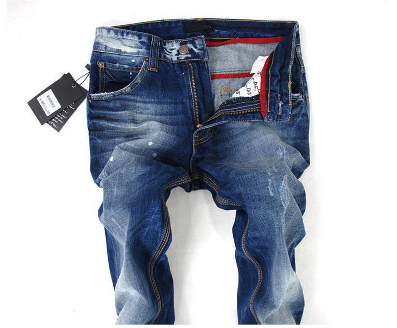 fff655ebe10 ... разорвал джинсы новый хлопка мужчин джинсы мода мужчины стрейт джинсы  высокого качества мужчин брюки тонкий нужным ...