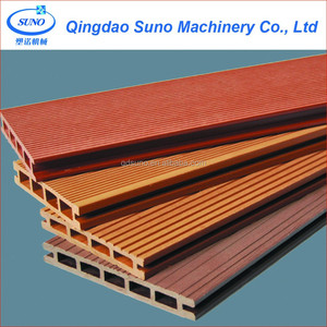 PP PE Wood Composited WPC Decking Profile Production Machine Line
