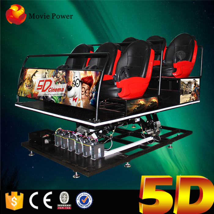 6 Seats 5d Dynamic Theatre With All Kinds Of Vedio Movies