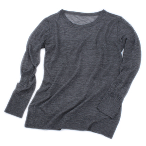 100% Water soluble cashmere long sleeve women sweater crew neck ultrathin cashmere sweater