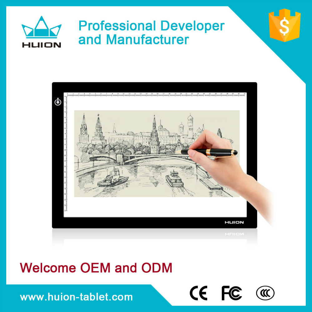 Nieuwe 2015!!! Duurzame led pad licht huion tracing board interactive whiteboard l4s
