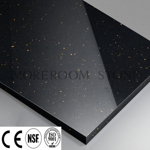 Hot Sales Black Color Countertop Design 12mm Artificial Stone Acrylic Solid Surface