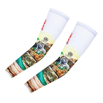 Custom digital printing cycling arm cuff breathable and quick-drying cycling arm sleeve