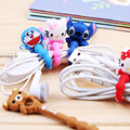 New Arrival 10pcs lot Lovely Cartoon Cable Winder Headphone Earphone Cable Wire Organizer Cord Holder Power