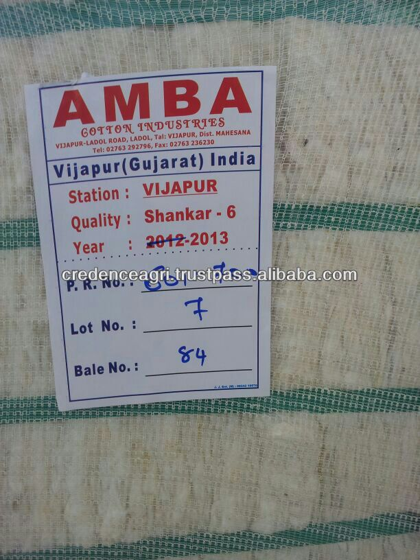 Specification Of Indian Raw Cotton