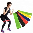 Custom Fitness Elastic Latex Exercise Loop Resistance Bands for Exercise
