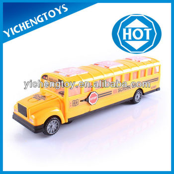 Let's go to school! kids toy car yellow school bus toy with light and music