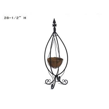 Outdoor Unique Fleur De Lis Metal Hanging Basket Plant Stand Buy