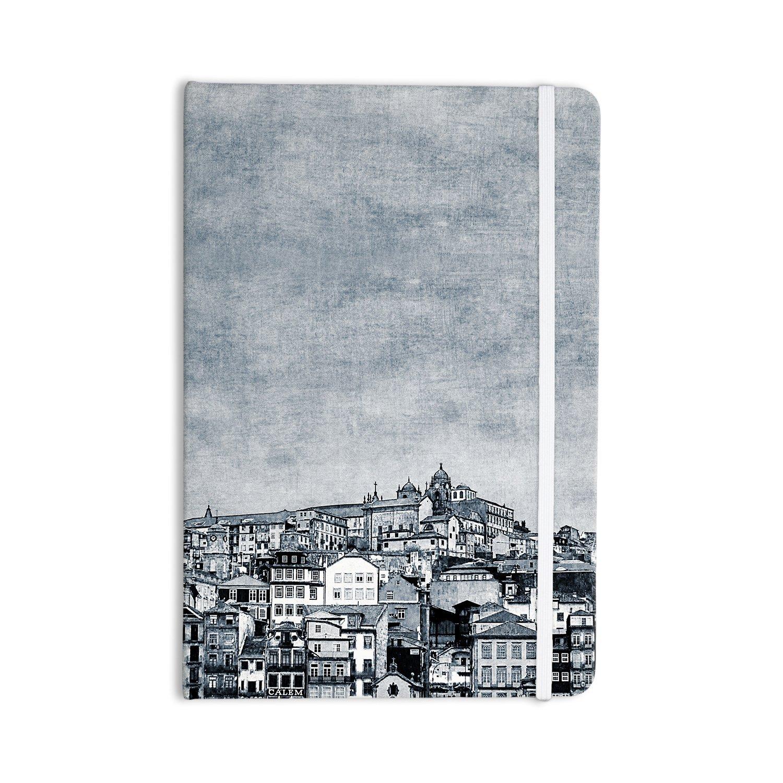 "KESS InHouse Everything Notebook, Journal Ingrid Beddoes ""A Ribera"" Gray City (IR2037ANP01)"