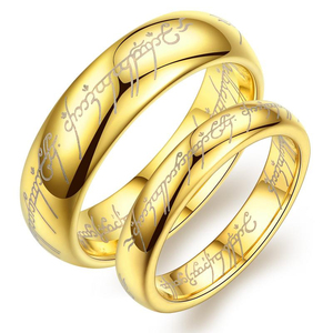 Lord of the Tungsten Rings Men's Women's Gold lover's Wild Tungsten Steel rings