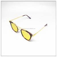 2016 high quality cat metal & acetate sunglasses top selling brand eyewear