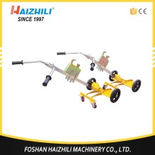 Portable hand carrier oil drum trolley, capacity 450kg drum lifter with two wheels