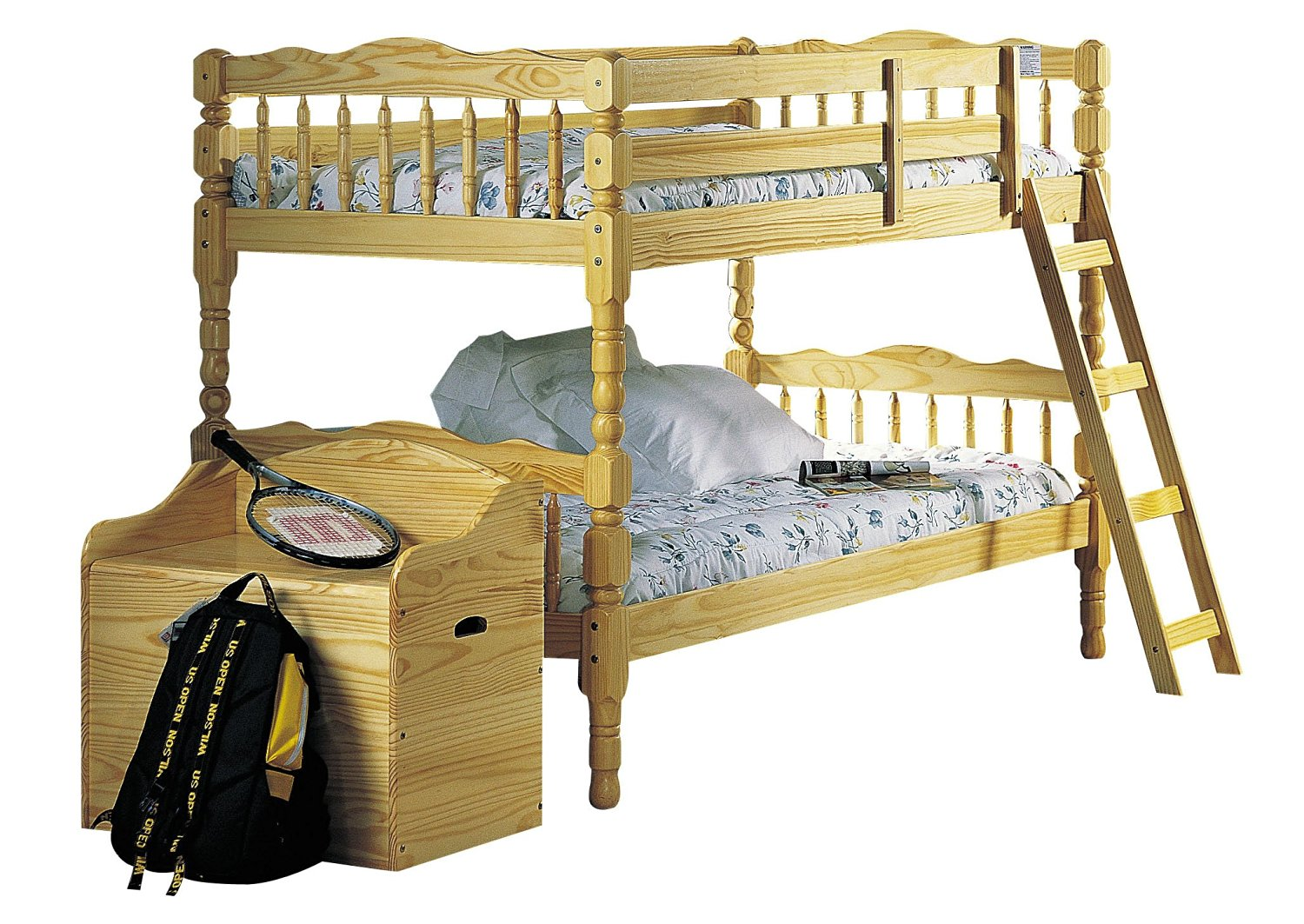 ACME 02299 Homestead Bunk Bed, Twin, Natural Finish