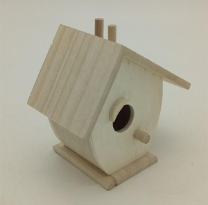 unfinished Art minds wooden mini decorative birdhouse