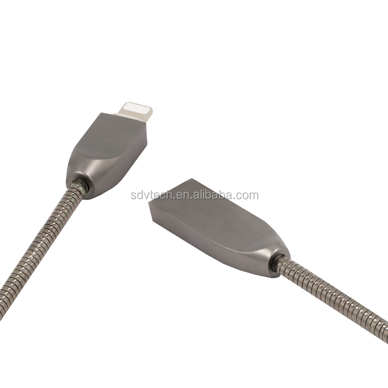 2018 Newest Sale Stainless Steel Retractable USB Type C Cable for Smartphone