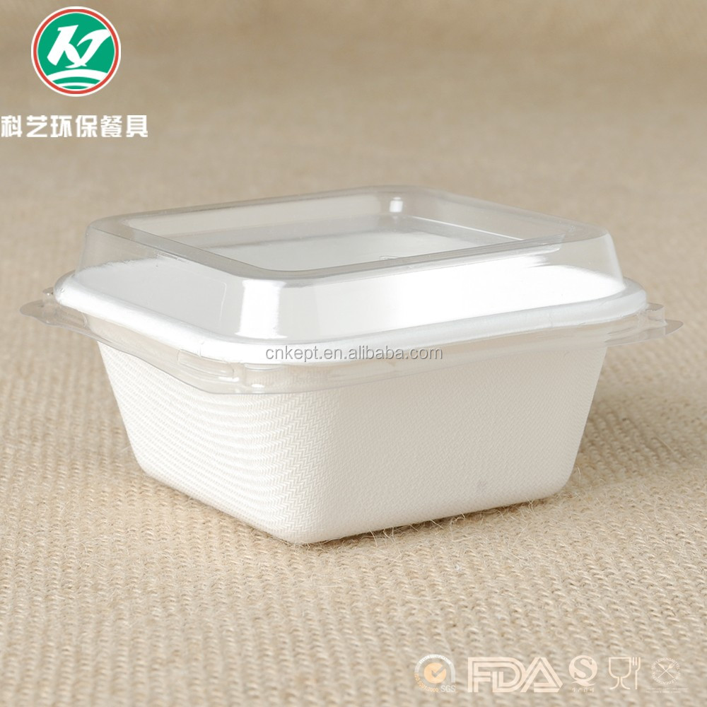 Disposable biodegradable bagasse container, food containe