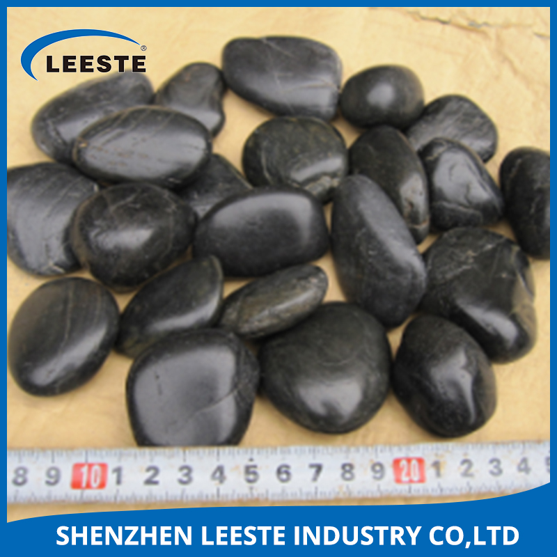 Use for paving / decoration / landscape black pebble stone