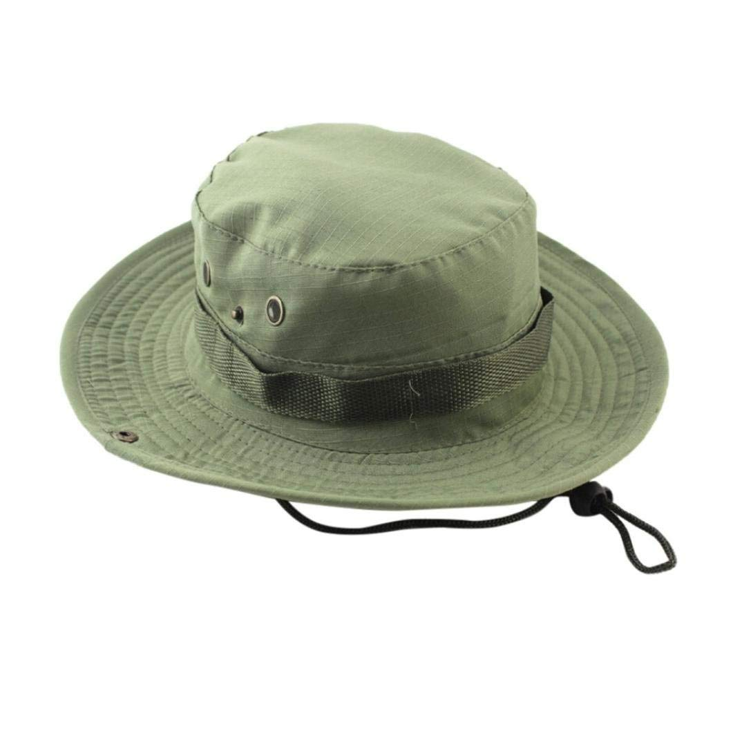 e5038d18298d48 Get Quotations · Shybuy Solid Outdoor Sun Hat Boonie Hat Wide Brim  Fisherman Hat Sun Protection Hat