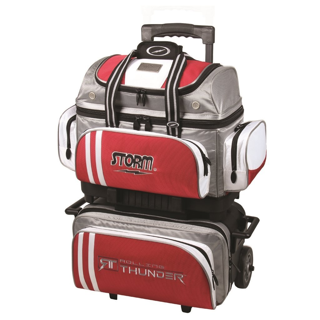 Storm 4 Ball Rolling Thunder Bowling Bag- Grey/Red/White ()