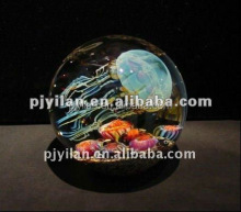 pretty laser elegant fashion 3d crystal jellyfish