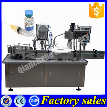 PLC controlled automatic liquid filling sealing machine,20ml injection vial filling machine