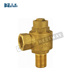 Threaded end brass ferrule