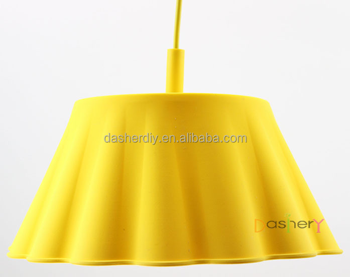 E27 socket Silicone modern kevin reilly altar pendant light lamp with colorful braided wire