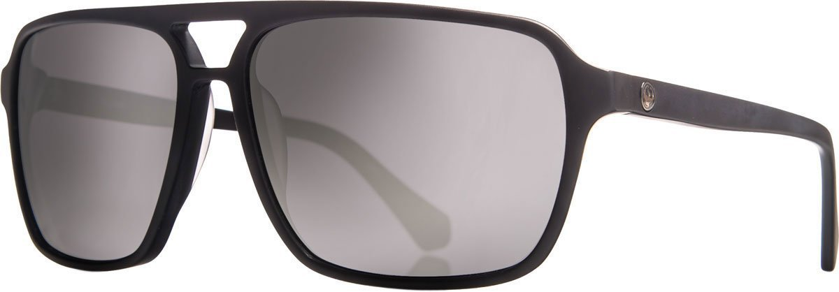 24288b1b6b Get Quotations · Dragon Alliance Matte Black Silver Ion Passport Sunglasses
