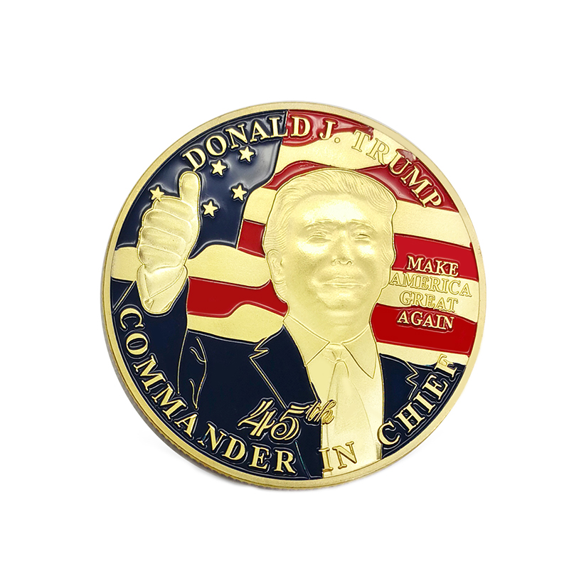 Donald trump challenge coin custom blank uitdaging coin trump coin