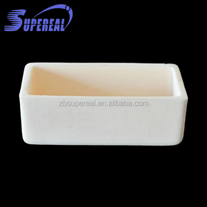 Refractory ceramic 99% Alumina crucible for gold melting with size 90 x 60 mm