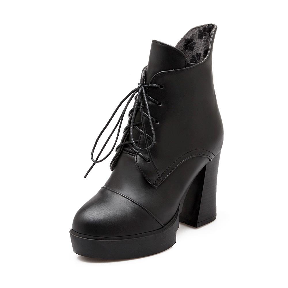 2015 winter fashion Martin boots women's plus size 40 43 ...