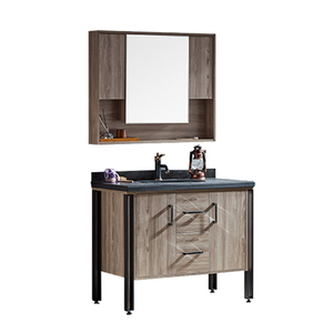 Factory Direct On Sale Solid Wood Grey Cheap Corner Bathroom Vanity