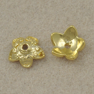 Jewelry Findings And Component Zinc Alloy Copper Filigree Flower End Bead Caps
