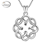 925 Sterling Silver Irish Infinity Endless Love Knot Vintage Pendant Necklace
