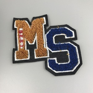 Wholesale Cheap Custom Beautiful Letter Chenille Embroidery Embroidered Patches