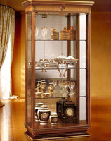 AAS92900-antique furniture living room wooden glass showcase