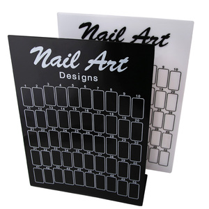 wholesale nail polish sample display plate frame Acrylic color exhibition board for nail art