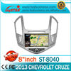 New Car DVD for Chevorlet Cruze 2013 with GPS Navigation 600MHz CPU ARM 11